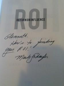 Signed by Mark Schaefer