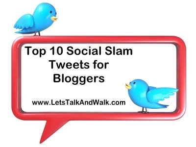 Top 10 Social Slam Tweets for Bloggers