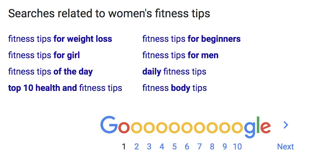 searches related to women's fitness tips